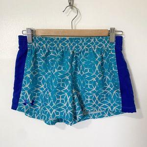 Under Armour HeatGear Printed Shorts, Blue - YXL